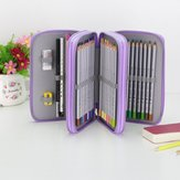 Multifunctional 52 Holes 3 Layers Pencil Case Pencil Curtain Sketch Colored Pencils Bag School Art Painting Supplies