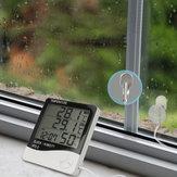 Digitales Hygrometer Innen-Außenfeuchtemessgerät und Temperaturüberwachungsthermometer Genaue Messwerte mit großer LCD Digitalanzeige und Wecker