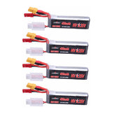 4Pcs URUAV 7.6V 450mAh 80C/160C 2S HV 4.35V Lipo Battery XT30 Plug for FPV Racing Drone