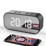 YUNDOM BT501 Kabelloser Bluetooth 5.0-Lautsprecher Doppel-Wecker FM-Radio HiFi-Musiksäule Subwoofer Freisprech-Anrufspiegel-Bildschirmanzeige