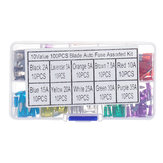 100pcs Mini Auto Fuse 10 Value Car Fuse Blade Kit Assortment with Box 2A 3A 5A 7.5A 10A 15A 20A 25A 30A 35A Each 10pcs