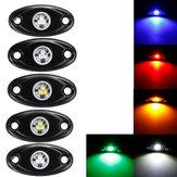 12 Pcs LED Luzes de Convés Atmosfera Decoração Lâmpadas Offroad Car Truck Boat Camper SUV 6000 K À Prova D 'Água