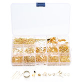 760Pcs/Set Eye Pins Lobster Clasps Jewelry Wire Earring Hooks Jewelry Finding Kit for DIY Necklace Jewelry Bracelet Making