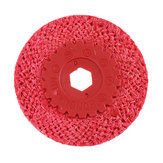 Drillpro Red Hemp Rope Buffing Wheel for Stainless Steel Metal Coarse Grinding Angle Grinder Polishing Tools