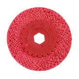Drillpro Red Hanfseil-Polierscheibe für Edelstahl-Metall-Grobschleifwinkelschleifer-Polierwerkzeuge