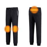 USB elettrico riscaldato in inverno caldo Pantaloni pantaloni riscaldamento pile caldo sciatore sci uomo L-7XL