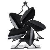 5 Jiletler Noel Ağacı Şekli Soba Fanı Isı Powered Ahşap Brülör Şömine Fanı