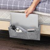 شنقا حقيبة السرير منظم تخزين السرير ورأى جيب صوفا مسند الذراع هاتف حامل