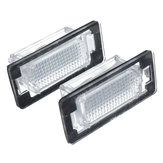 2PCS LED License Number Plate Lights White for VW Audi Seat