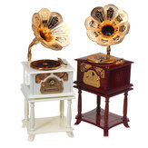 Vintage Phonograph Music Box Crafts Simulation Home Ornaments Gift Bedroom Decor