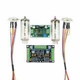 Dual Channel 6E2 Buisindicator Driver Kits Boordniveau-indicator Versterker DIY Audio Fluorescerend DC 12V Laagspanning