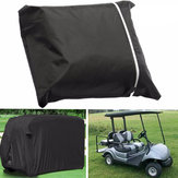 4 Seater Passenger Golf Car Cart Cover Storage Zippered Rear Air Vents Elastic Hem Cover
