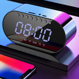 LyRay Wireless Bluetooth 4.2 Portable Speaker Double Alarm Clock Bass Double Speaker