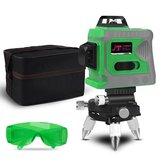 Laser Level 12 Lines Nível 3D Autonivelante 360 Horizontal e Vertical Cross Nível laser verde super poderoso com tripé Bolsa Óculos