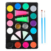 Face Painting Kit Body Makeup Non Toxic Water Paint Pigment Oil With Brush For Christmas Halloween Fancy Carnival Vibrant Party