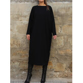 Women Long Sleeve Long Sweatshirt Autumn Winter Long Shirt Dress