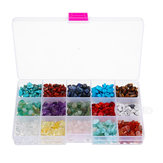 5-8mm Natural Quartz Crystals Loose Beads Strands Boxed Mix Assortment Healing Gemstone