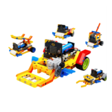 Yahboom Running: bit 5in1 STEAM Robot inteligente educativo programable Coche Ladrillos basado en Micro: bit Compatible con LEGO