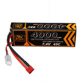 ZOP Power 7.4V 4000mAh 45C 2S Lipo Battery T Plug for HPI HSP 1/8 1/10 Buggy RC Car