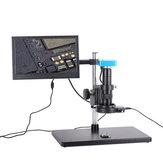 Tam Set 34MP 2 K Endüstriyel Lehimleme Dijital Mikroskop Kamera USB Çıkışları 180X C-montaj Lens 56 LED 11.6 inç ekran