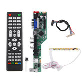 T.SK106A.03 Universal LCD LED TV Controller Driver Board TV/PC/VGA/HDMI/USB+7 Key Button+1ch 6bit 30 LVDS Cable
