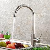 صنبور المطبخ 360 تدوير غير القابل للصدأ الصلب الساخنة والباردة بالوعة صنبور خلاط صنابير المياه حوض صنبور الطابق الخيالة رافعة للمطبخ