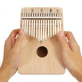 17 teclas DIY Pintura Madera de pino Madera de haya Kalimbas Pulgar Piano Percusión de dedo con afinación Hammer