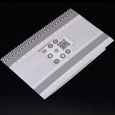 Lente de cartão dobrável Ferramenta de teste de foco Alinhamento de calibração profissional Gráfico de régua de ajuste de AF