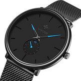 WWOOR 8855 Waterproof Ultra Thin Mesh Steel Men Wrist Watch
