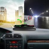 Bakeey Universal 10W Szybkie ładowanie Qi Bezprzewodowa ładowarka Samochodowa szyba Lusterko HUD Wyświetlacz Head Up Uchwyt telefonu na telefon poniżej 6,5 cala dla iPhone GPS DH42