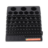 85 Holes Drill Bit Storage Box Without Drill Milling Cutter Saving Space Holder