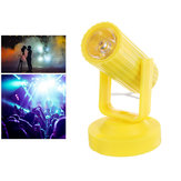 RGB LED Colorful Stage Lamp Yellow Shell Spot Light for Disco KTV Party AC110-220V