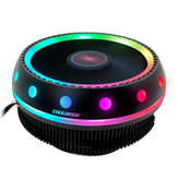 Coolmoon DC 12V 3Pin UFO Colorful Retroilluminazione 100mm CPU Dissipatore di calore PC Dissipatore di calore per Intel / AMD Per PC Custodia per computer
