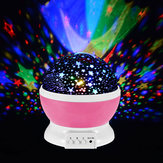 LED Rotating Star Projector Baby Night Light Nursery Children Room Desk Lighting Lamp