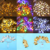 3M 20 PCS Batterie Actionné Or Sliver Palace Eid Ramadan Kareem Mubarak LED Fée String Light pour la Décoration de fête