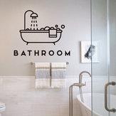 Loskii FX47 حمام الجدار ملصق الإبداعية حمام دش الباب ملصق diy خلفية ضد للماء مرحاض الحمام باب الديكور