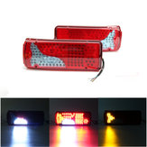 24V 120 LED Lorry Trailer Truck Rear Tail Lights Lamp For MAN DAF TGX SCANIA