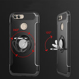 Bakeey Armor Shockproof Magnetic 360° Rotation Ring Holder TPU PC Protective Case For Xiaomi Mi 8 Lite