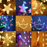 AC220V 2.5M暖かい白Colorful LEDストリングフェアリーカーテンライトクリスマスホリデーウェディングパーティーの装飾