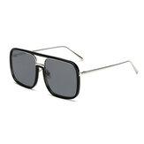 Unisex Retro Płaskie lustro kwadratowe Duże ramki Przezroczyste okulary przeciw UV dla kobiet