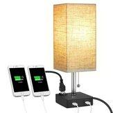 USB LED Lampe de table de bureau Chargeur de téléphone Lampe de lecture