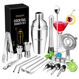 22 PCS / Set Cocktail Pengocok Boston Pembuat Bartender Martini Mixer Membuat Alat Bar Alat