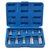10pcs trousse à outils 4-18mm inviolable triple socket carré spline socket