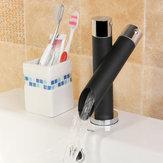 Weit verbreitet Bad Waschbecken Wasserhahn Öl gerieben Bronze Wasserfall Waschbecken Mischbatterie