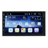 Android 7 Inch 2 Din HD Pantalla táctil WIFI Bluetooth 4.0 Enlace espejo Coche Negro MP5 Player OBD