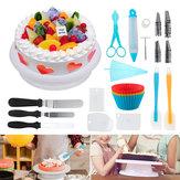 117pcs Cake Decorations Kit Fournitures Cake Platine Platine Spatule Sac Pâtissier Nozzle Tool Set
