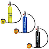 DEDEEP 1L Oxygen Cylinder Aviation Aluminum Diving Breathing Oxygen Tank Outdoor Diving Equipment Set