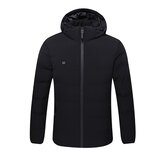 USB Electric Heating Cotton Coats Jacket Adjustable Temperature Heated Motorcycle Men's Clothing