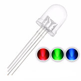 50 PCS 10mm 4PIN Umum Anoda 20mA RGB LED Diode Cahaya Transparan Putaran Light-Emitting Lamp