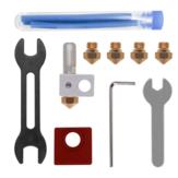 Kit MK10 de metal totalmente resistente con extrusor MK10 + boquilla de latón de 0.4 mm + 0.6 mm + tubo de PTFE + juego de llaves para impresora 3D